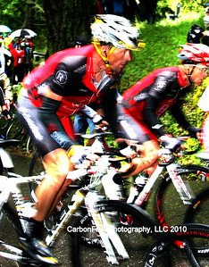 Armstrong and Leipheimer on Trinity Grade (graphics by Paul Murphy)