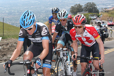 Stage 4, (Danielson, Leipheimer, Schleck, and Sutherland) Ascent, Sierra Drive.