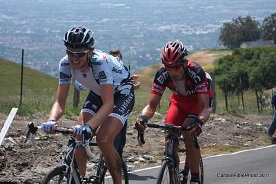 Stage 4, (Nuyens, Hincapie) Ascent, Sierra Drive.