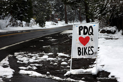PDQ loves bikes but the snow doesn't--Stage One cancelled due to weather!   Lake Tahoe