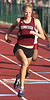 Tennessee High's Jennifer Cannon leads the field during the Girls 100 meter dash event.