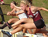 THS Jennifer Cannon, winner and record setter in the girls 100 meter hurdles. Photo by Ned Jilton II