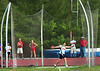 Virginia High's Nik Huffman competing in the discus. Photo by Ned Jilton II