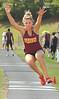 Science Hill's Jessica Norris, winner of the girls triple jump. Photo by Ned Jilton II