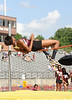 Tennessee High's Samantha Gugder jumps over the bar during the girls high jump event.