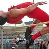 Daniel Boone's Christian Stumpf, winner of the boys high jump at the Big 7 Meet. Photo by Ned Jilton II