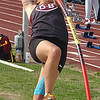 D-B's Jamie Almeria cleared a new personal best (check this) during girls pole-vault. Photo by Ned Jilton II