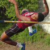 D-B's Michael White placed second in the boys high jump during Big 7 Meet. Photo by Ned Jilton II