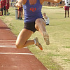 Volunteer's Emily Armstrong in the girls long jump. Photo by Ned Jilton II