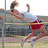 """Daniel Boone's Cassidy Campbell clears 4'10"""" to place in top three during the girls high jump at the Big 7 Meet. Photo by Ned Jilton II"""