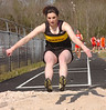 "Emilee Ketron of Sullivan North winning thhe girls triple jump with a score of 32' 9 1/4"". Photo by Ned Jilton II"