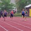Kristian McCullough, 200m, semi final, Provincial High School track meet, Moose Jaw, Saskatchewan