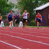 Kristian McCullough, 100m, final, Provincial High School track meet, Moose Jaw, Saskatchewan
