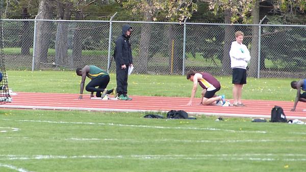 Kristian McCullough, 200m, City High School track finals, Regina, Saskatchewan