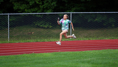 Anna at the Track Meet in Colchester in July 2008. 50m, long jump, and 4x100m relay.