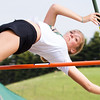 Record-Eagle/Brett A. Sommers Traverse City West's Maya Breneman competes in the pole vault at Wednesday's Golden Baton track and field meet at TC West.