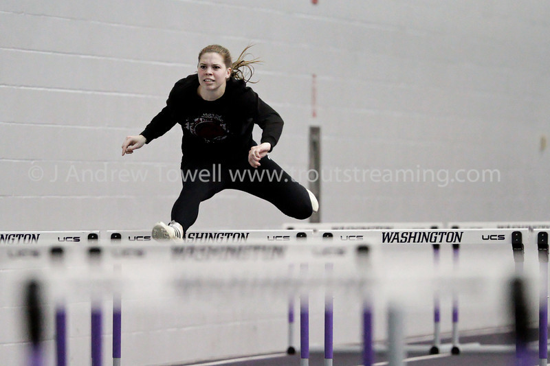 """Images from the 2012 Seattle Pacific University Falcons  Indoor Track and Field in Seattle Washington. 4x6 prints will be made 'as-is' and are priced accordingly, all other sizes and products will be post-processed by hand to maximize image quality. Small digital images for web use are available on request with any print purchase. Images may be used for personal viewing, but may not be used for any commercial purposes or altered in any form without the express prior written permission of the copyright holder, who can be reached at troutstreaming@gmail.com Copyright © 2012 J. Andrew Towell   <a href=""""http://www.troutstreaming.com"""">http://www.troutstreaming.com</a> . <br /> <br /> As always, feedback - good and bad - is always appreciated!"""