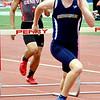 WARREN  DILLAWAY | Star Beacon<br /> Conneaut's Josh Leggett won the 300 meter hurdles on Saturday afternoon at the Division II district track meet at Perry. The performance helped Geneva to a one point victory in the team standings.