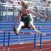 Lewisburg's Miles Foreman goes over a hurdle during Tuesday's meet at Shikellamy.