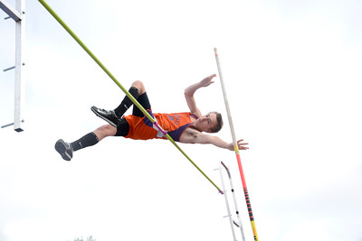 Danville's Aaron Billig clears the bar on this pole vault attempt during Tuesday's track meet at Selinsgrove.