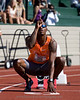 Xavier Carter just before the 200m