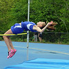 Lunenburg High School sophomore Sophia Holman competes in the high jump at Lunenburg High School on Thursday afternoon. SENTINEL & ENTERPRISE/JOHN LOVE
