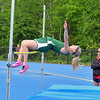 Oakmont High School sophomore Tess Rembetsy-Brown competes in the high jump at Lunenburg High School on Thursday afternoon. SENTINEL & ENTERPRISE/JOHN LOVE