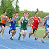 The start of the boys 4x800 at Lunenburg High School on Thursday afternoon. SENTINEL & ENTERPRISE/JOHN LOVE
