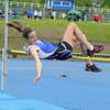 Bromfield High School eighth grader Alex Saganich competes in the high jump at Lunenburg High School on Thursday afternoon. SENTINEL & ENTERPRISE/JOHN LOVE