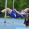 Lunenburg High School Whitney Mansfield competes in the high jump at Lunenburg High School on Thursday afternoon. SENTINEL & ENTERPRISE/JOHN LOVE