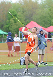 Jefferson-Morgan's Nic Santoya throws the javlin 146.5' in tje javlin competition