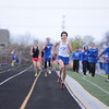 HSE's Barkely on final straight for the Boys 800m