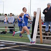 HSE Jessica King 1st across the 1600m finish line