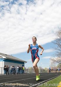 Laurel Highlands' Melissa McCann has a wide lead in the girls  800m