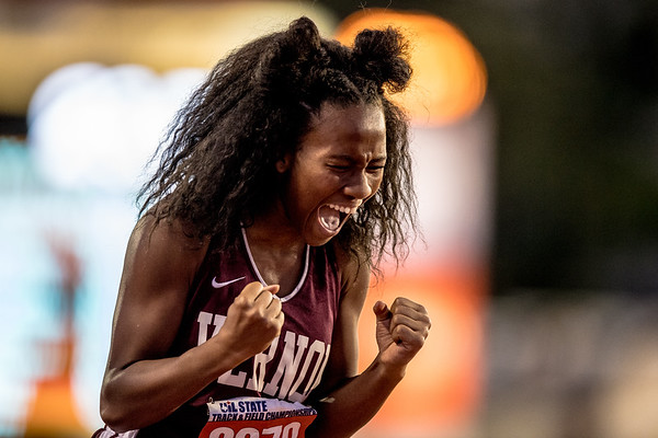 "Rayah Coleman runs 24.55"" in the 4A 200 meter dash to claim and exclaim the bronze medal at the 2017 UIL State Track and Field Championships"
