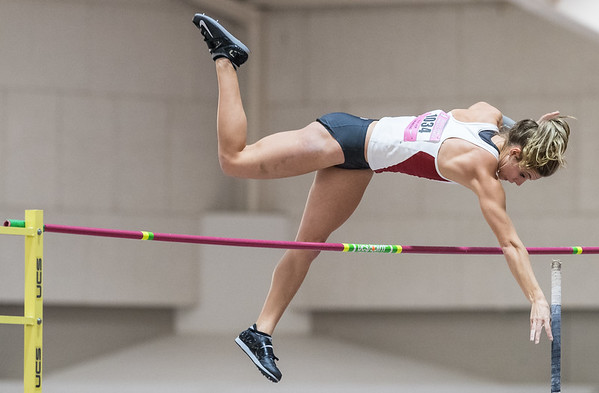 Lexi Weeks vaults during the Tyson Invitational Track and Field meet on Saturday, February 11, 2017.   (Alan Jamison, Nate Allen Sports Service)