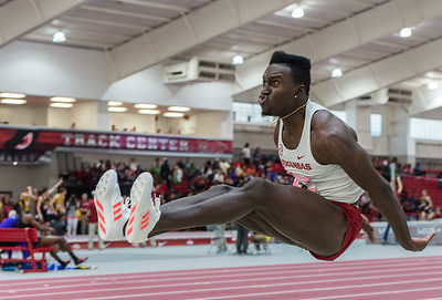 Clive Pullen flies during the Tyson Invitational Track and Field meet on Saturday, February 11, 2017.   (Alan Jamison, Nate Allen Sports Service)