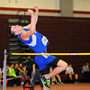 Lunenburg junior Jake DeGrace, 16, participates in the high jump during Monday's Mid-Wach C league championships at Fitchburg High School, Monday night.<br /> SENTINEL & ENTERPRISE / BRETT CRAWFORD