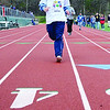 SENTINEL&ENTERPRISE/Ashley Green -- Derek Reynolds, of FLLAC, approaches the finish line of the 200 meter race during the Special Olympics North Central School Day Games on Wednesday afternoon at Elliot Field in Fitchburg.