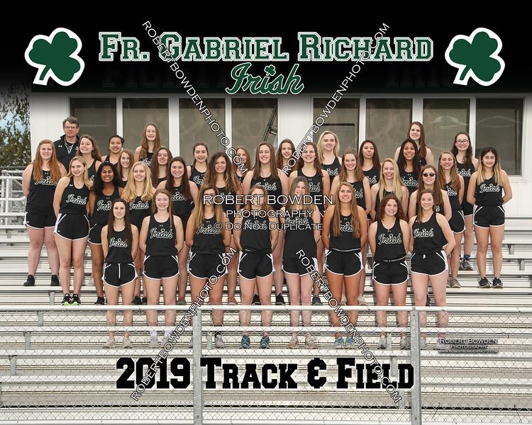 2019 FGR Womens Track Team 8x10