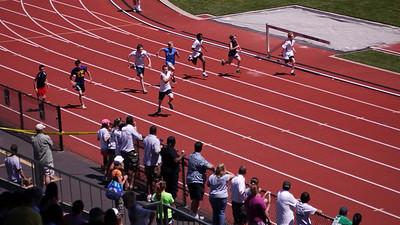 Dawson 100m prelim, 11-12 boys