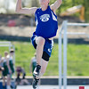 Lunenburg Will Cochran competes in the long jump during the meet at Lunenburg High on Wednesday afternoon. SENTINEL & ENTERPRISE / Ashley Green