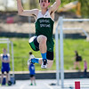 Oakmont's Bryan Steigelman competes in the long jump during the meet at Lunenburg High on Wednesday afternoon. SENTINEL & ENTERPRISE / Ashley Green