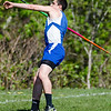 Lunenburg's Chad LeBlanc competes in the javelin during the meet at Lunenburg High on Wednesday afternoon. SENTINEL & ENTERPRISE / Ashley Green