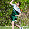 Oakmont's Andrew Sifert competes in the javelin during the meet at Lunenburg High on Wednesday afternoon. SENTINEL & ENTERPRISE / Ashley Green