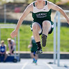 Oakmont's Jared Sarasin competes in the long jump during the meet at Lunenburg High on Wednesday afternoon. SENTINEL & ENTERPRISE / Ashley Green