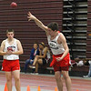 North Middlesex's freshman shot putter Jake Baron competes in the Mid-Wach A championship on Saturday in Fitchburg.  SENTINEL & ENTERPRISE/JOHN LOVE