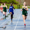 Oakmont's Jessica Sciesluk and Lunenburg's Latifah Ouro-Sama run the 200 meter Mid-Wach C track championship on Thursday afternoon. SENTINEL & ENTERPRISE / Ashley Green