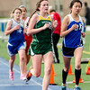 Oakmont's Sydney Hertle runs the 2 mile during the Mid-Wach C track championship on Thursday afternoon. SENTINEL & ENTERPRISE / Ashley Green
