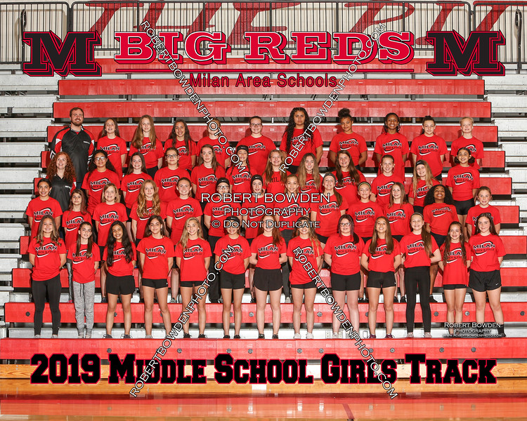 Milan Track Girls Middle School 8x10 2019